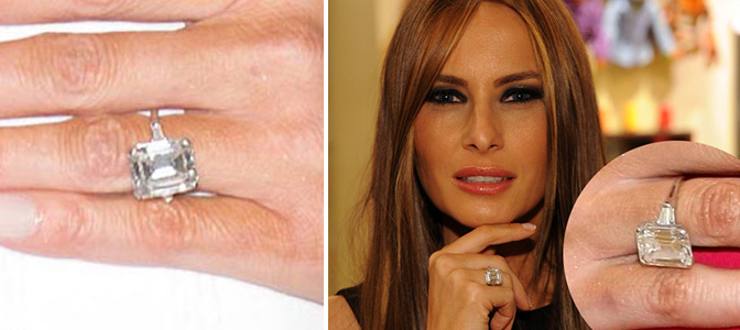 How Much Is Melanias Engagement Ring Worth